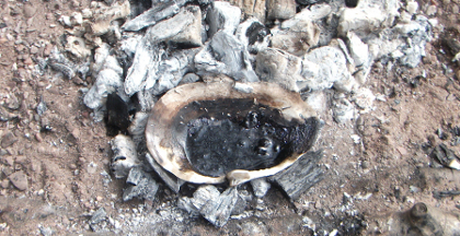Aceramic production of birch bark tar